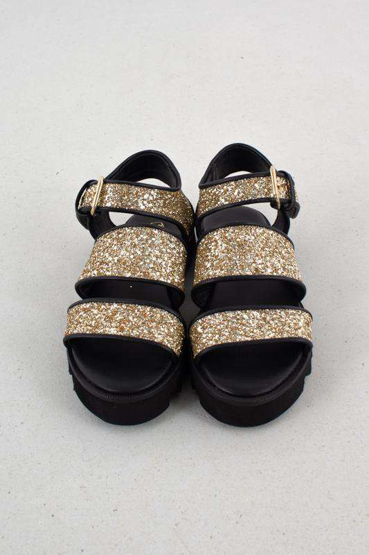 Image of   Emily Sandals - Sort/Glimmer - Sort/Glimmer 38