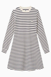 Isa Dress - Off-White/Navy Stripes - Wood Wood