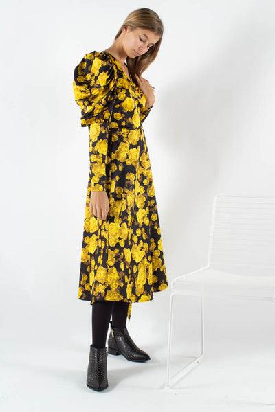 Lanacras Wrap Dress - Yellow Rose - Crās