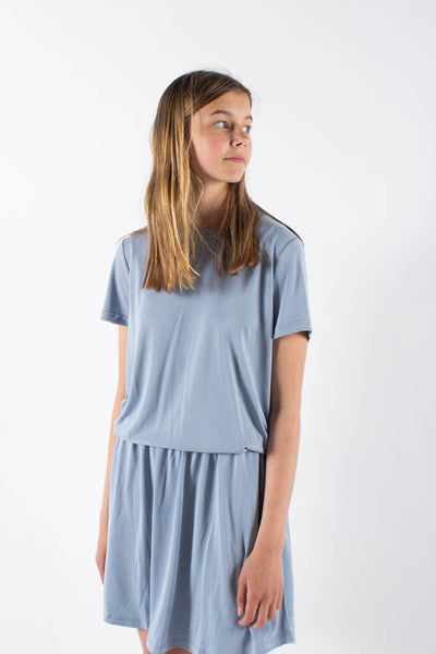Liff skirt - Dusty Blue - Minimum