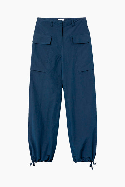 Malou Nylon Trousers - Navy - Wood Wood