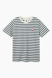 Mia T-shirt - Off White/Navy - Wood Wood