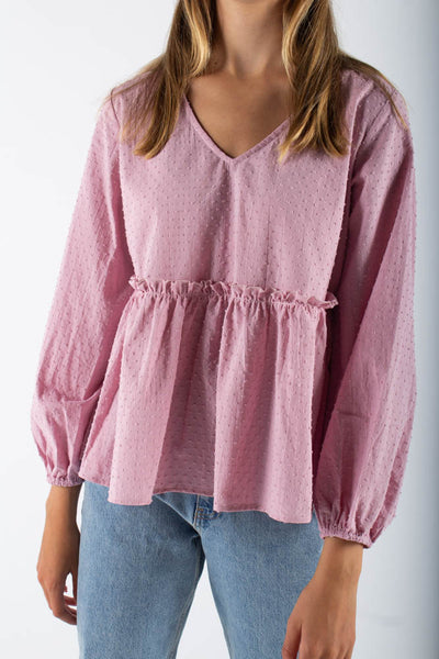 Michas long sleeved blouse - Lavender Frost - Moves