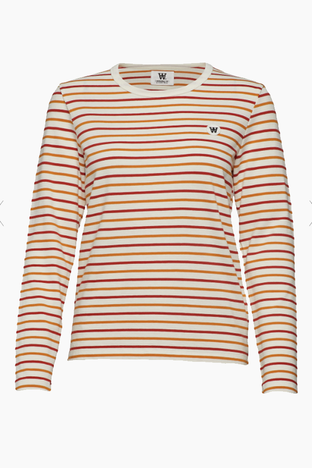 Moa Long Sleeve - Orange Multi Stripe - Wood Wood