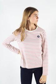 Moa Long Sleeve - Off White/Rose Stripes - Wood Wood