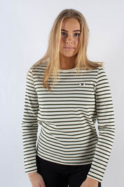 Moa Long Sleeve - Dark green/offwhite Stripe - Wood Wood 2