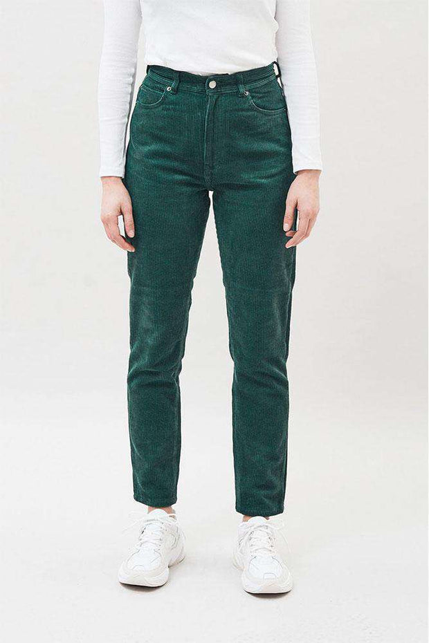 Nora Jeans - Deep Green Cord - Dr. Denim