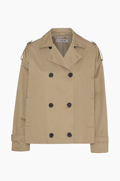 Olea short trench coat AV1720 - Beige - A-View