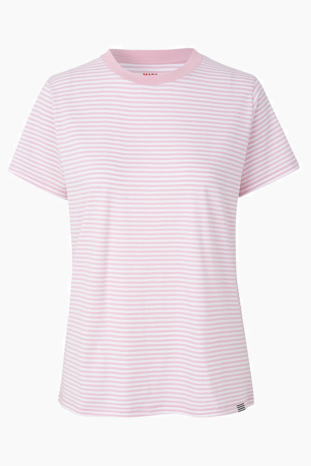 Organic Favorite stripe Trimmy  - White/Rose - Mads Nørgaard Qnts