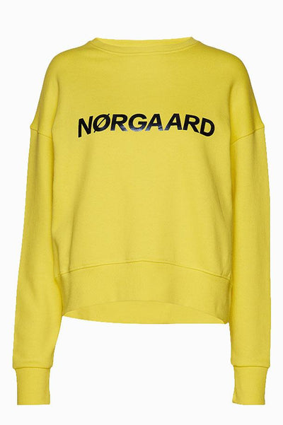 Organic Sweat Tilvina p C - Yellow/Navy - Mads Nørgaard