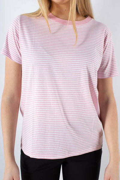 Organic Favorite stripe Trimmy  - White/Rose - Mads Nørgaard 1