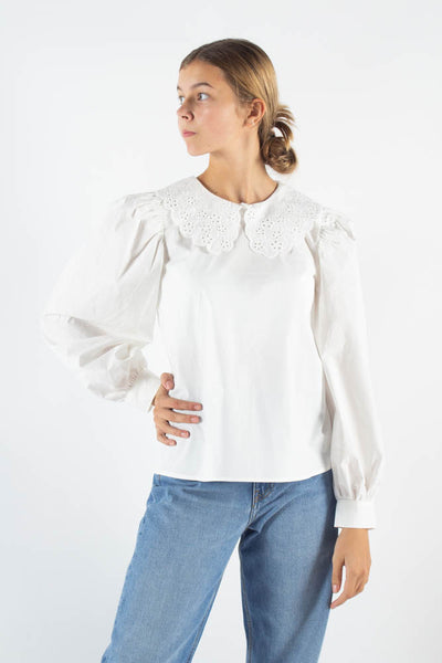 Ovi Long sleeved blouse - White - Moves