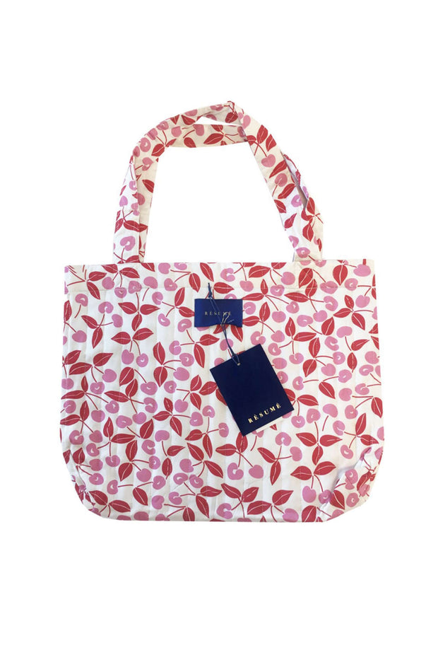 Ozzy Bag tote mulepose White Résumé blomsterprint 4
