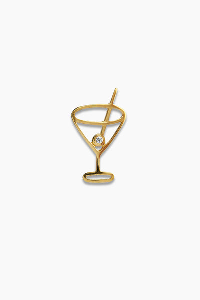 Petit Cocktail Pendant - Gold whit stone - Stine A