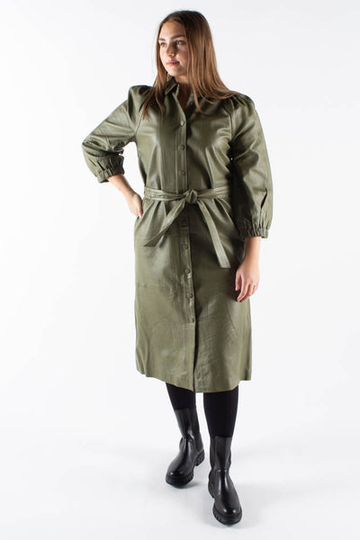 Petrah Zia Dress - Deep Olive - Bruuns Bazaar