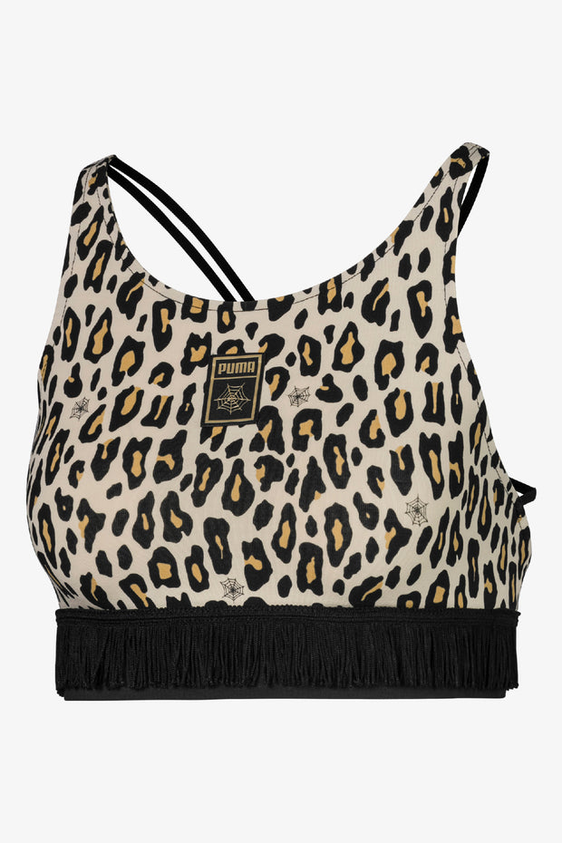 Puma X CO AOP Crop Top - Leopard