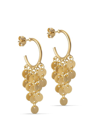 Waterdrops Hoops mini - Gold - ENAMEL