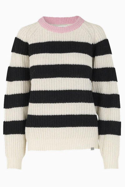 Recycled Favorite Wool Ketty- Ecru/Black-Rose- Mads Nørgaard