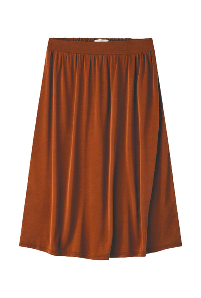 Regisse Midi Skirt Potting Soil brun nederdel Minimum 4