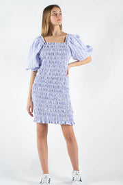 Rikka Dress AV1791 - Blue/White - A-View