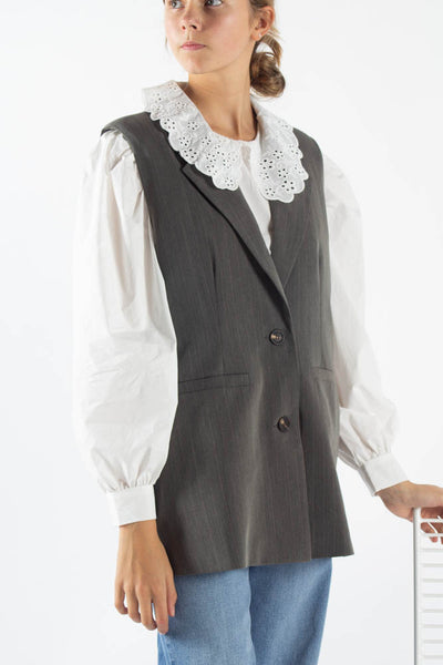 Salise Blazer Vest - Grey Melange - Moves