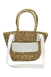 Small beach bag - Nature w. white details