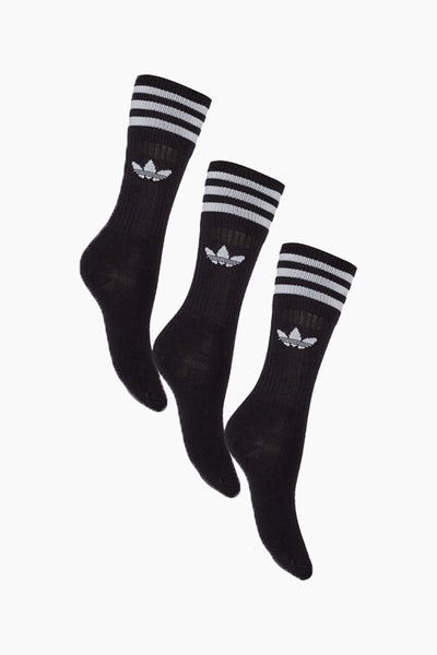 Solid Crew Socks - Black - Adidas