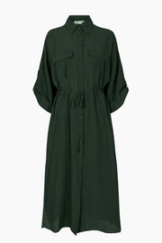 Spinosia Midi Dress - Racing Green - Minimum