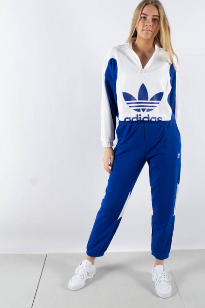 Sweater - White/Croyal - Adidas Originals