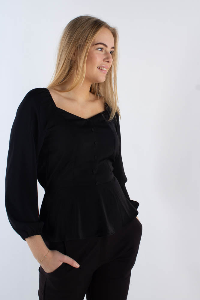 Tallas bluse - Sort - Moves - Sort XS