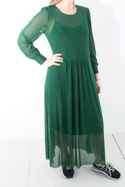 Thora Lucia Dress grøn kjole Forest Green Bruuns Bazaar