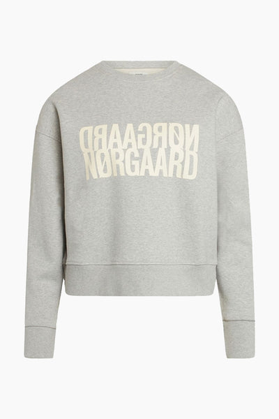 Tilvina P Organic Sweat - Light Grey Melange - Mads Nørgaard