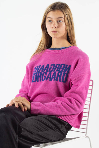 Tilvina Sweater  - Shocking Pink - Mads Nørgaard