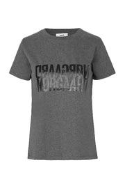 Trenda P Single Organic T-shirt - Dark Grey Melange - Mads Nørgaard