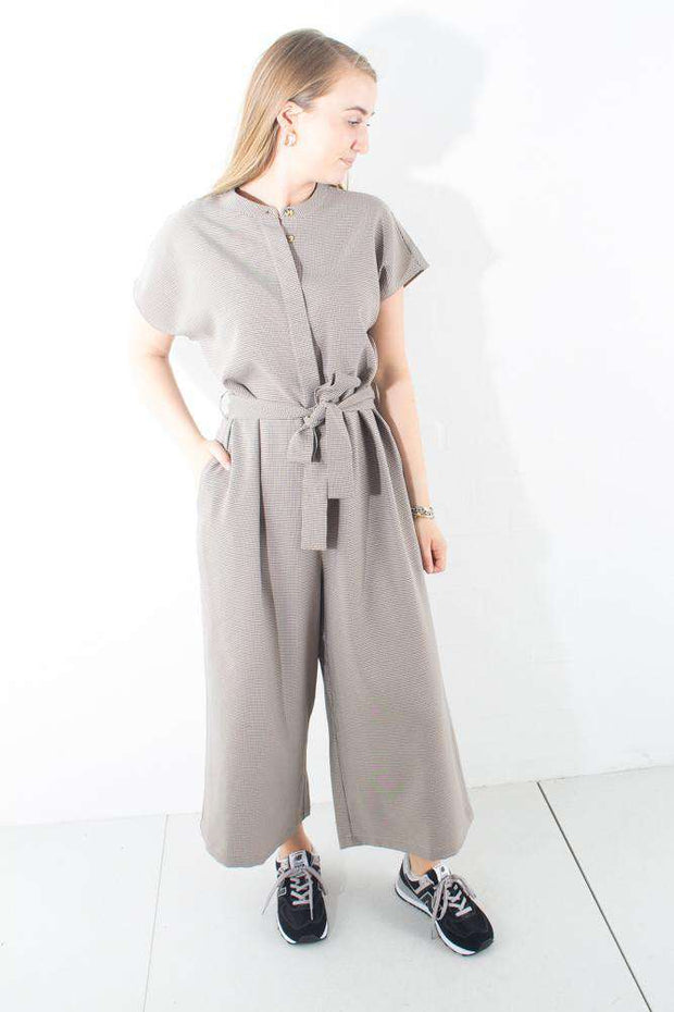 Tvilla jumpsuit Check black sort buksedragt Minimum