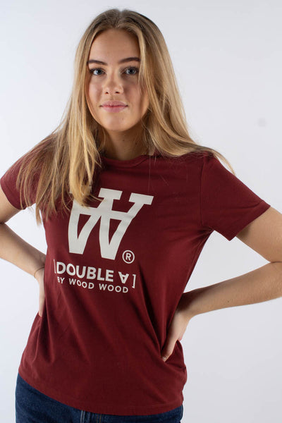 Uma T-shirt - Dark red - Wood Wood