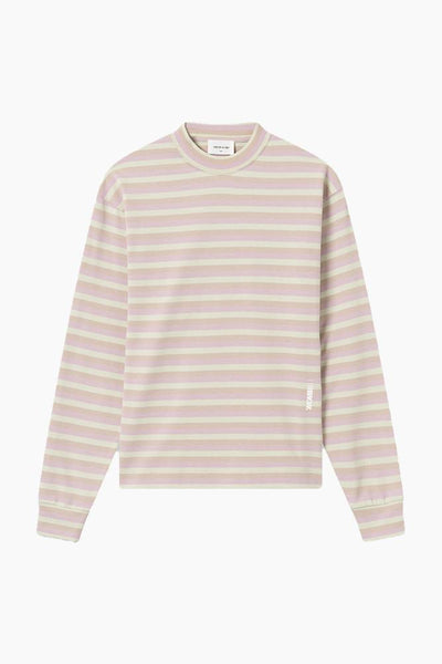 Astrid Long Sleeve i Green Stripes fra Wood Wood