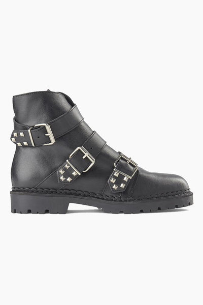 Hailey Buckle Leather - Sort - Shoe the Bear