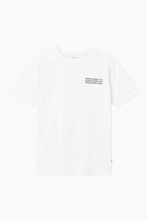 Info T-shirt - Bright White - Wood Wood