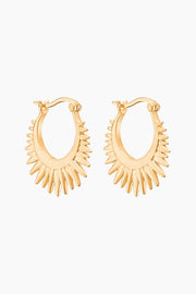 Sunrays Earring - Gold - ENAMEL