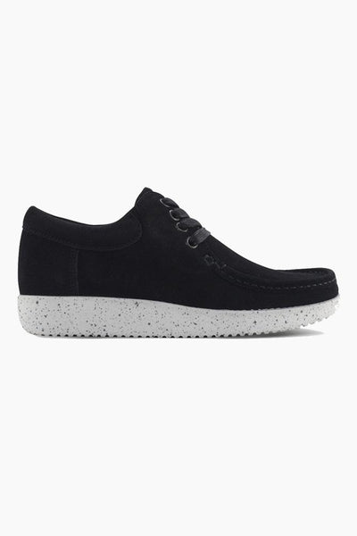 Anna Suede - Black/White - Nature Footwear