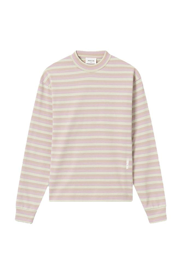 Astrid Long Sleeve i Green Stripes fra Wood Wood 1