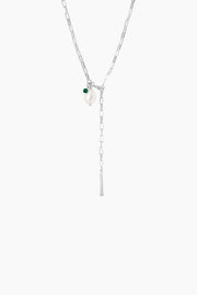 Azra Necklace - Silver - ENAMEL