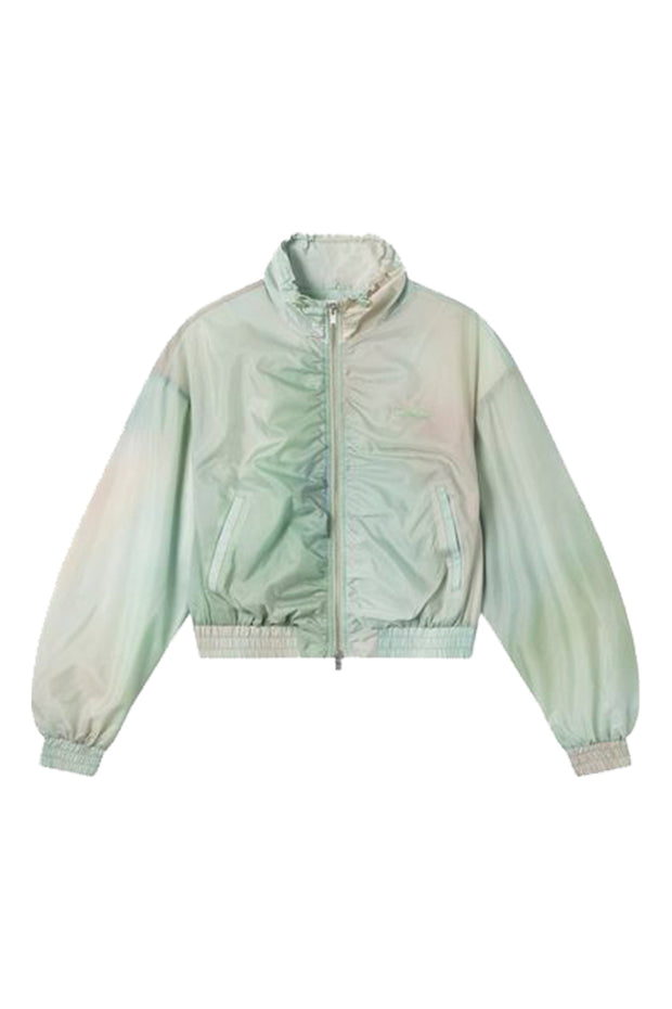 Silke Track Jacket - Green AOP - Wood Wood