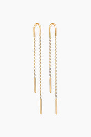 Hoop Chain Earring - Gold - ENAMEL