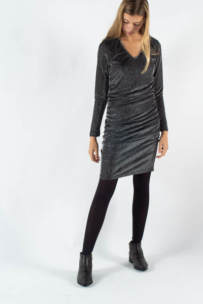 Veala Short Dress - Dark Silver - Moves