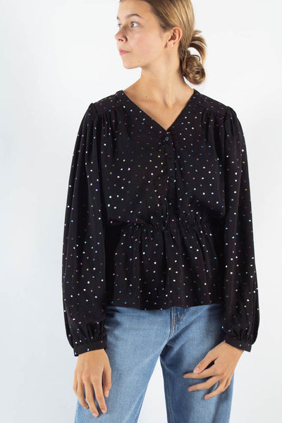 Vetulle long sleeved blouse - Black - Moves