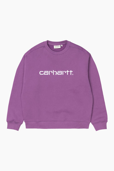 W' Carhartt Sweat - Aster/White - Carhartt