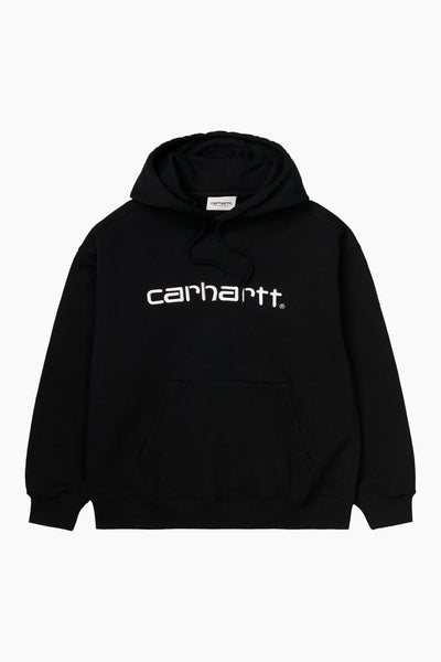 W' Hooded Sweat - Black/White - Carhartt