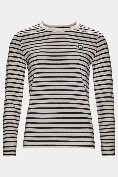 Moa Long Sleeve - Stribed fra Wood Wood - front